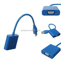 New High Quality USB 3.0 to VGA Display External Video Graphic Cable Cord Adapter For Win 7 8 Hot Sale