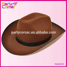 Cheap Brown Gangster Hat With Band