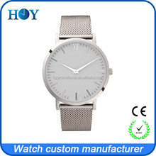 custom 316L stainless steel case and mesh strap watch men and lady style