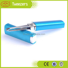 plastic eyelash tweezer with aluminum case