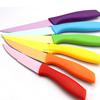 rainbow coating fruit knife set