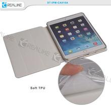 New arrival three folded stand magnetic smart pu+tpu case for ipad mini