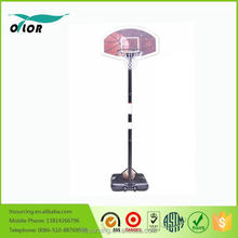 Good price best quality height adjustable movable portable 10' basketball stand for outdoor training