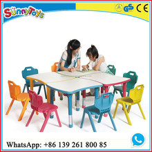 Children furniture kids ergonomic table and chair for studying