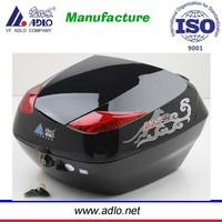 ABS+PP large capacity 34litres scooter cargo box /motocycle top case black color