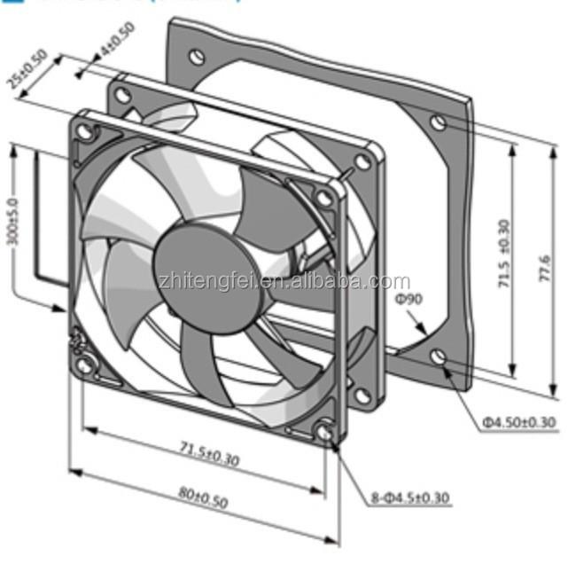 High Speed 12 Volt Cooling Fans : High speed mm volt dc fans silent ip