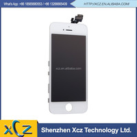 Original LCD Touch Screen Digitizer Frame Assembly Full Set LCD Touch Screen Replacement for iPhone 5 5G - White