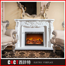 LED wooden italian fireplace mantel TV stand