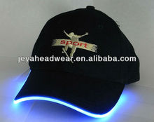 2012 100% cotton new design fashionable led light baseball cap wholesale