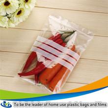 high quality double zip lock bag/slide zip lock plastic bag/wash bag