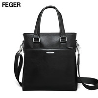 New Men's Real Leather Bussiness Briefcase Bag Leather Shoulder Bag Tote