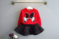 2015 Winter Boutique Girl Kids Clothes High Quality 2 Piece Skirt Sets