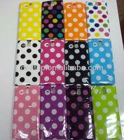 gel TPU polka dots case cover for For Sony Xperia U ST25i