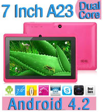 "Q88 Tablet PC 7"" AllWinner A23 1.2GHz Android 4.2 4GB + 512MB 7 inch 800*480 HD Screen WiFi"