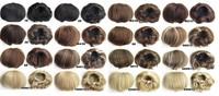 синтетические эластичные невесты волосы булочка парик волос Шиньон 1# ролик Хепберн шиньоны 25 цветов доступны 1шт
