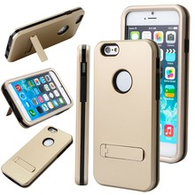 PC TPU Mobile Phone Case 3 in 1 Hybrid Kickstand Slim Armor Mobile Phone Case For Iphone 6 Plus 5.5