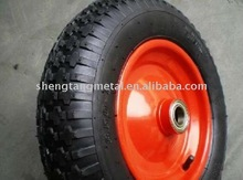 pneumatic rubber wheel 350/8