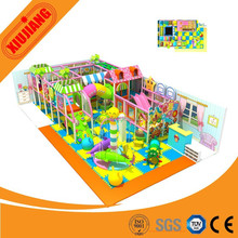 Toddler Play Soft Indoor Playground Equipment with Slides and Climbing.