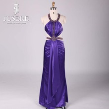 Wholesale Halter Beaded Formal Evening Dress