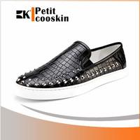 Black Alligator pattern man casual sport shoe walking running sport men shoes
