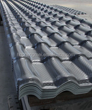 Spanish decorative ASA synthetic resin roof tiles/ ASA PVC roof tiles