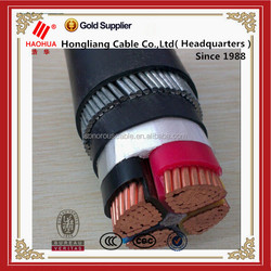 Copper conductor PVC insulated steel wire armoured 4 core 95mm copper cable