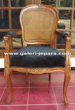 Mahogany Wood - Rattan French Style Furniture - Antique Dining Chairs