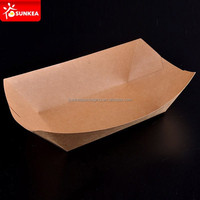 Healthy paper food trays / hot dog paper trays