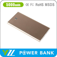 USB Portable Ultra Thin Power Bank 5000 For Smartphone
