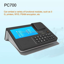 7 inch all in one 3G/WIFI/GPRS Handheld Android Pos Terminal with memory