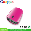 Guoguo 2015 hot sales power bank dual usb best brand portable 7800mAh mobile power supply for iphone,ipad