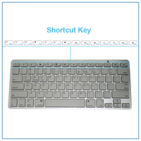 factory price high quality ABS bluetooth keyboard 7AAA*2 bluetooth wireless keyboard Mini Wireless Bluetooth Keyboard with CE