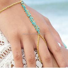 Jewelry bracelet bead ring bracelet gold jewelry bracelet with ring