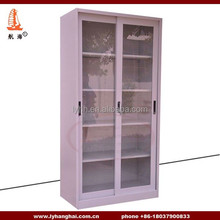 Hospital Use Furniture Lockable Heavy Duty Industrial Cupboards Cabinets A4 Filing Store Metal Sliding Glass Door Folder Cabinet