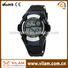 High quality silicone watch with Digital Display for man