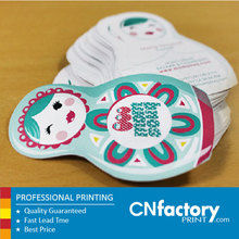 China factory special shape paper business card and tags printing