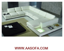 genuine leather sofa u shape modern styles