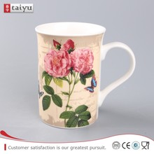 customized long service life logo customized bone china cups and plate