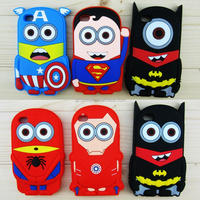 New arrival 3D batman superman ironman soft rubber silicone cellphone cases cover for iphone 5 5s