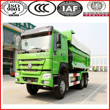 VOLVO comfortable cabin left hand drive sinotruk brand 10 wheel howo dump truck with aire conditioner/bed