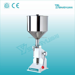 China Alibaba Guangzhou supplier manual 5-50ml volume liquid soap and detergent filling machine