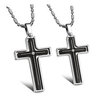 Specials Europe / Korea Exquisite fashion jewelry couple black cross pendant necklace decorated gifts for women / men GX116