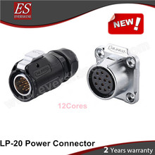Alibaba Evershine China Factory LP-20 Power Connector Waterproof IP65/IP68 12Pin Male Plug and Female Socket