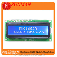 Character 1602 lcd display with blue backlight
