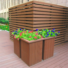Amazing!!! Wood Plastic flower pot chocolate color