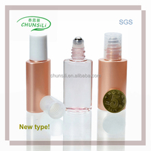 new design pet 5ml roll on empty roller ball clear plastic round pet tubes