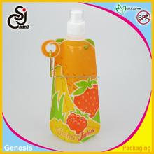 Hot portable drinking plastic water bag,PET foldable water bag,drinking water in plastic bag