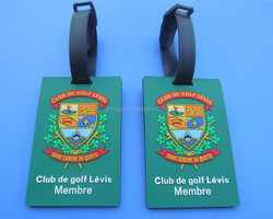 Golf Club Luggage Tags With Plastic Strap