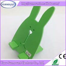 Best Quality Colorful Cute Rabbit Wooden Cell Phone Holder For Desk