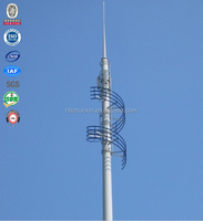 Steel antenna wifi telecommunication bts monopole tower
